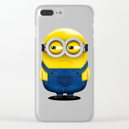 Minion BOB (Angry) Clear iPhone Case