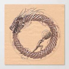 The Ouroboros / Uroboros and Sisyphus Canvas Print