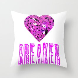 Heart Breaker Throw Pillow