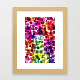 Kaleidoscopic Polka Dots Framed Art Print