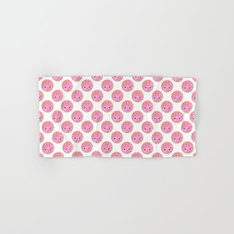 Pink Concha Pan Dulce Pattern (Mexican Sweet Bread) Hand & Bath Towel