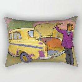 Kolkata Taxi Rectangular Pillow