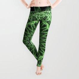 Green detailed mandala Leggings