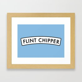 Flint Chipper Framed Art Print