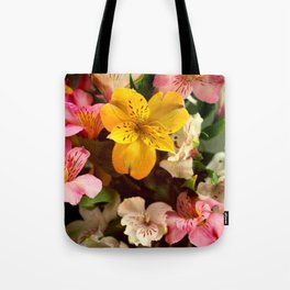 Lily of the Incas Bouquet Tote Bag