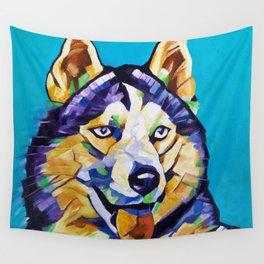 Pop Art Husky Wall Tapestry