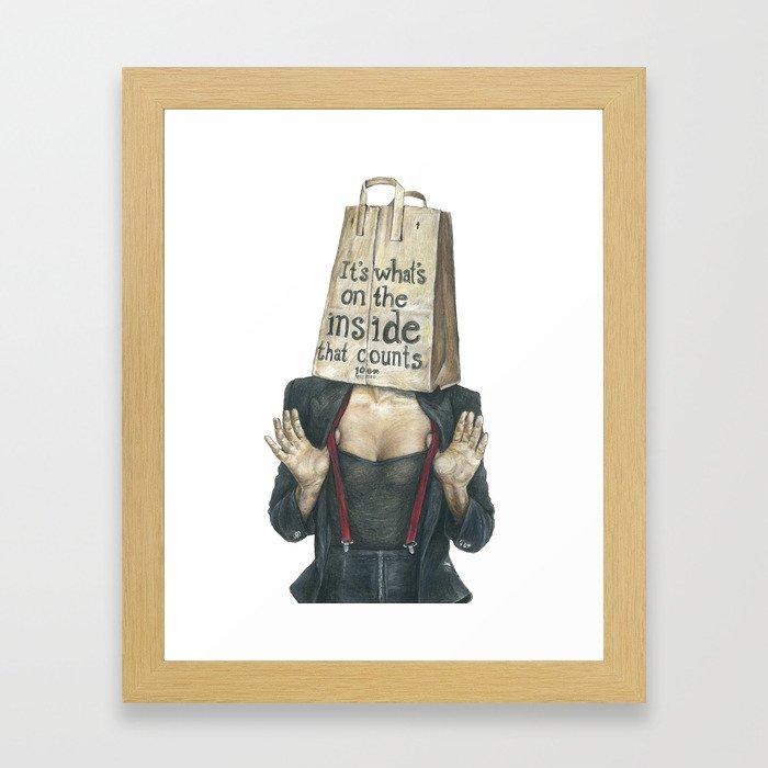 Brown Baggin' It No. 2 Framed Art Print