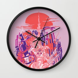 Smash! Zap!! Zooom!! - Big-Boobed Babe Wall Clock