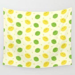 Kawaii Lemons & Limes Wall Tapestry