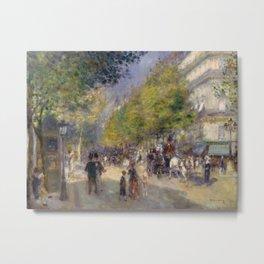 Pierre-Auguste Renoir - The Grands Boulevards Metal Print