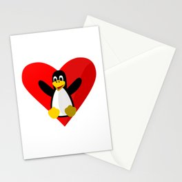 Penguin mascot Stationery Cards