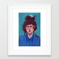 birdy Framed Art Prints featuring Birdy by Alice Holleman