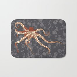 Rad Orange Octopus Bath Mat