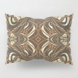 Neo-Tribal Woodwork Mandala Print Pillow Sham