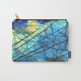 Royal Labradorite Crystal Agate Gemstone Print Carry-All Pouch