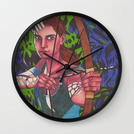 Lara on Fire Wall Clock
