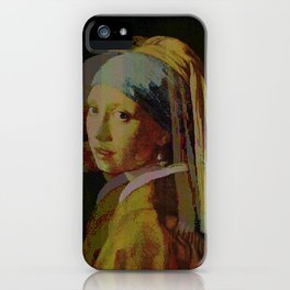 glitch painting 1 iPhone Case