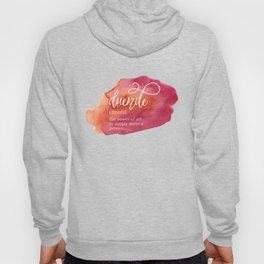 Duende Word Nerd Definition - Pink Watercolor Hoody