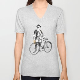 Every weekend I take the fixed gear to the farmers market for Vegan Artisan Granola. Unisex V-Neck