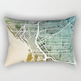 Seattle Washington Street Map Rectangular Pillow