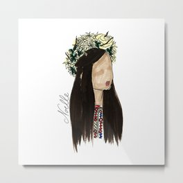 Crown of Roses Metal Print