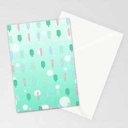 Kawaii Popsicles Mint Stationery Cards