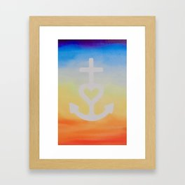 Faith, Hope & Love Framed Art Print