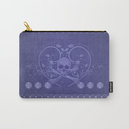 Skull with floral elements Carry-All Pouch