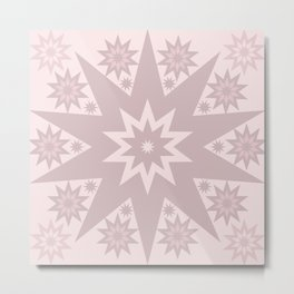 Rose Pink Star Metal Print