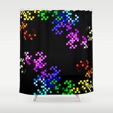 little squares again Shower Curtain