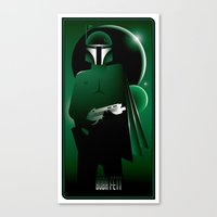 boba Canvas Prints featuring Boba Fett by Szoki