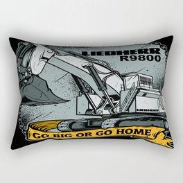 excavator liebherr r9800 Rectangular Pillow