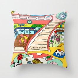La Maison du Lapino Throw Pillow