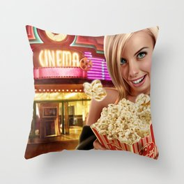 CINEMA POP Throw Pillow