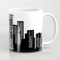 donkey kong Mugs featuring Donkey Kong City by Ryan Huddle House of H