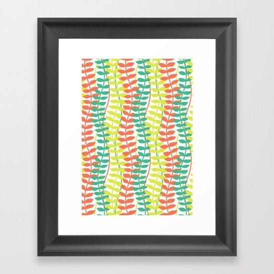 seagrass pattern - tropical Framed Art Print