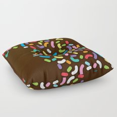 Chocolate Donut Sprinkles Floor Pillow
