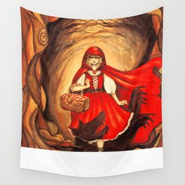 Red Riding Hood Wall Tapestry