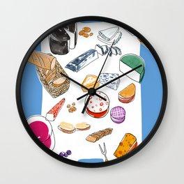 Cheese plate Wall Clock