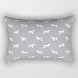 Jack Russell Terrier grey and white minimal dog pattern dog silhouette pattern Rectangular Pillow