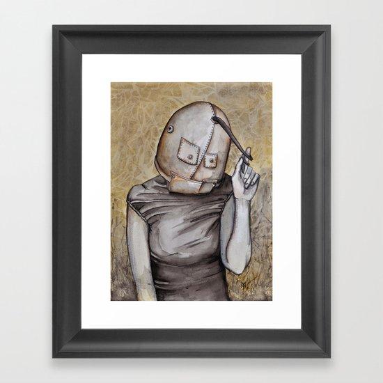 Coy conformity Framed Art Print