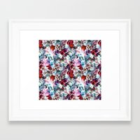 floral pattern Framed Art Prints featuring Floral Pattern by Eduardo Doreni