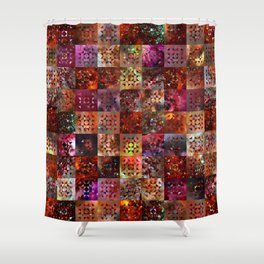 Warm Colors Galaxy Quilt Pattern Shower Curtain