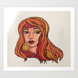 Solar Girl Art Print