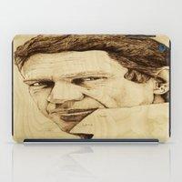 steve mcqueen iPad Cases featuring Steve McQueen by Farinaz K.