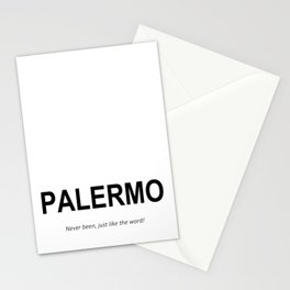 PALERMO Never been, just like the word! Stationery Cards