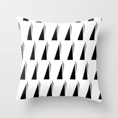 Black and Grey Throw Pillow