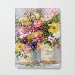 Dreamy Spring Flowers Metal Print