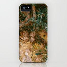 "John Singer Sargent ""Valdemosa, Majorca - Thistles and Herbage on a Hillside"" iPhone Case"