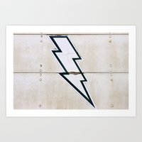 cosima Art Prints featuring White Lightning by Cosima Higham